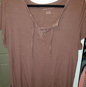 American eagle lace up front shirt